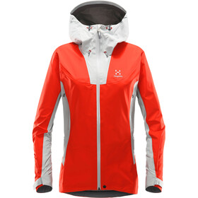 Haglöfs W's Kabi K2 Jacket Stone Grey/Pop Red